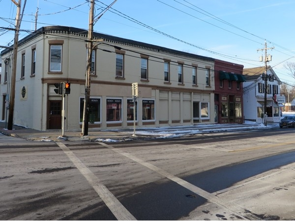 Historic commercial building in the Village of Honeoye Falls
