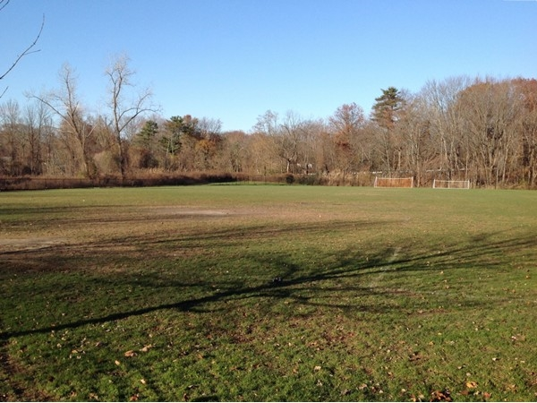 Large and level soccer field in central Rye neighborhood