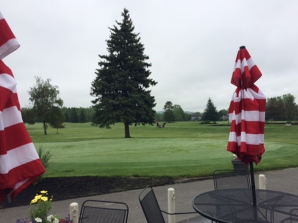 The well cared-for Greens at Cornell Golf Course, just before the rain.