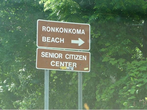 Sign to Senior Citizen Center at Lake Ronkonkoma