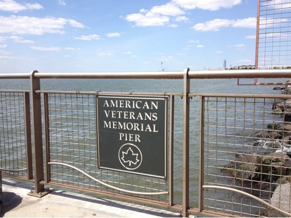The beautiful 69th Street pier with an amazing view of Manhattan, the Harbor and Verrazano Bridge