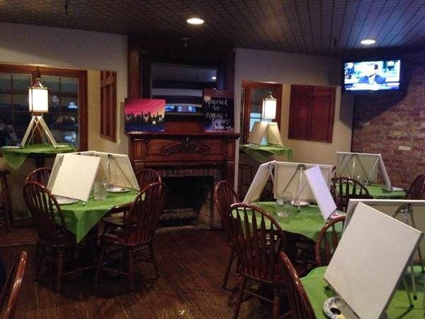 Stingers, a great local bar/pub also has Painting Nights once a month! Eat, drink and paint