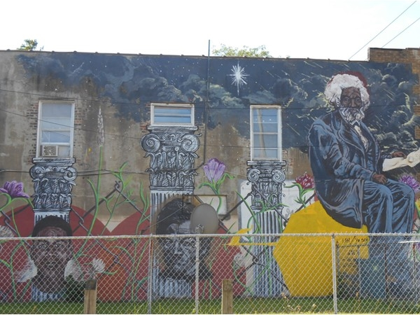 This colorful mural can be found at the corner of Joseph Avenue & Avenue D.
