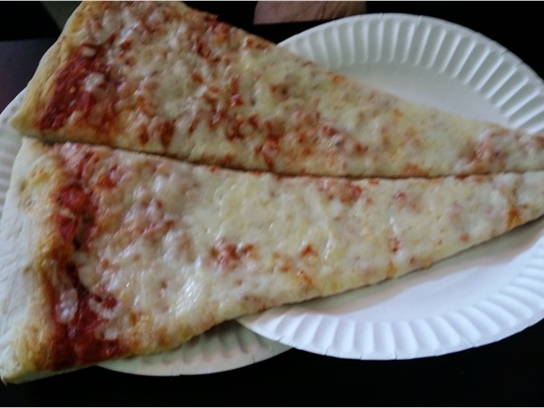 Giant slice of pizza at Marco's off Route 211 in Middletown