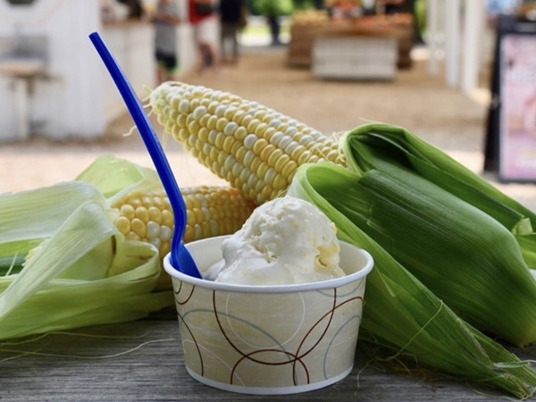Harbes Family Farm Sweet Corn Ice Cream is delicious