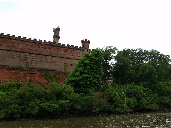 Bannerman's Island and castle. You can float to it on kayak or paddle board from Cornwall