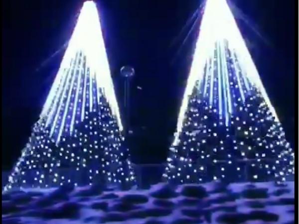 Holiday trees at Magic of Lights