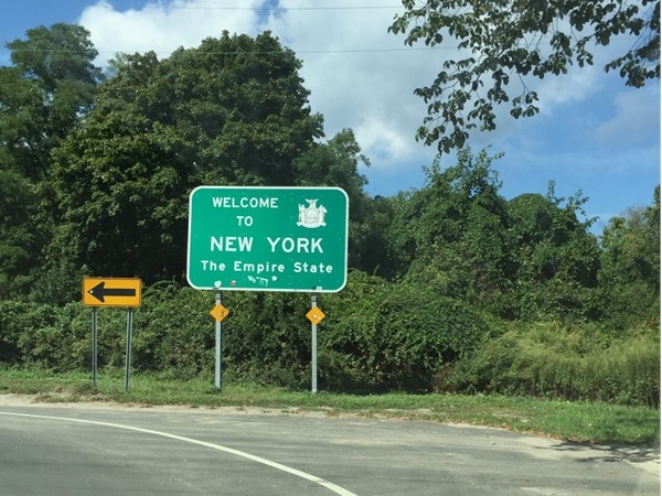Visitors to New York see this welcome sign when departing from the Orient/New London ferry
