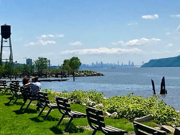 Picture perfect day- NYC skyline from Hastings-on-Hudson