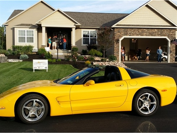Great Summerset Model and Hot Corvette made for a special evening at the Parade of Homes.