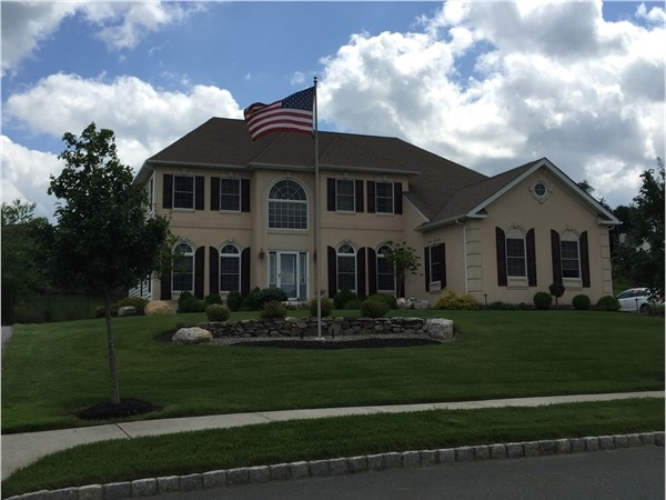 American flag flies high in the Estates of Briarcliff