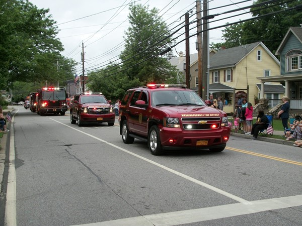 Washingtonville Fire Department came out in full force