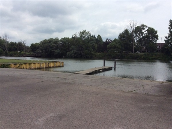 Boat launch at the North Tonawanda Botanical Garden, remember this is a no wake zone