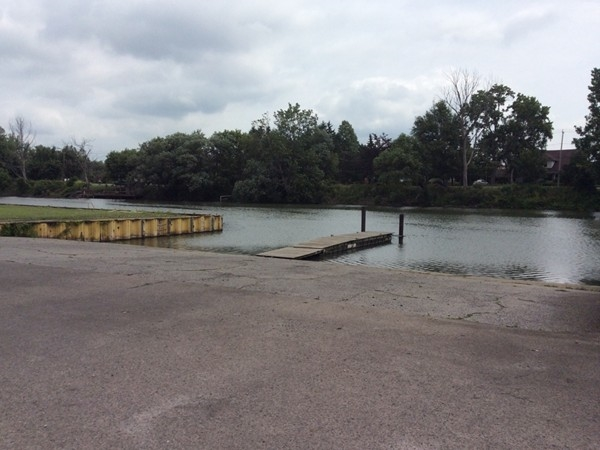 Boat launch at the North Tonawanda Botanical Garden, remember this is a no wake zone