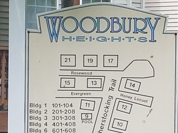 Complex map for Woodbury Heights Condominiums