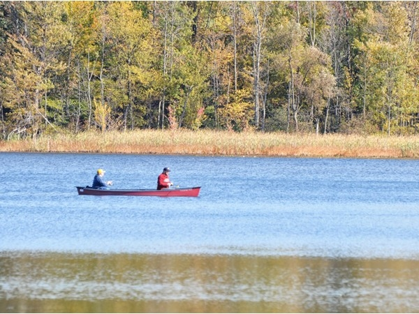 Canoeing and fishing are both popular at Mendon Ponds Park