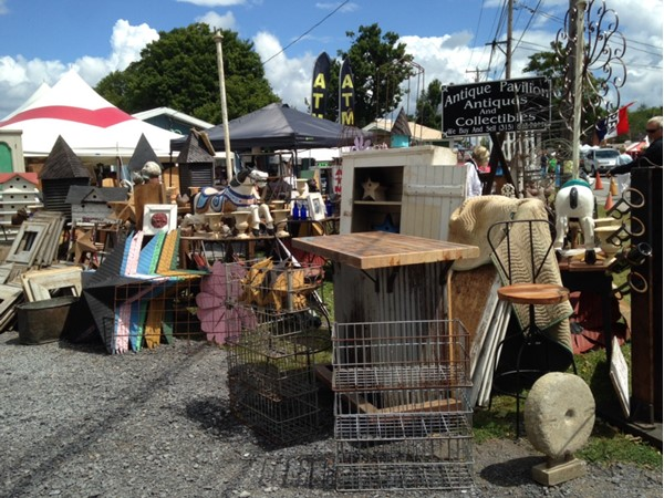 Lots of interesting stuff at Bouckvile Antique Show