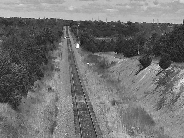 Lavon railroad track - if it weren't for that utility line it would be perfect