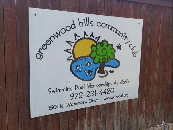 Greenwood Hills swimming club