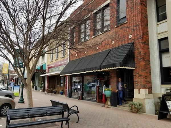Some of the shops and restaurants in Downtown McKinney