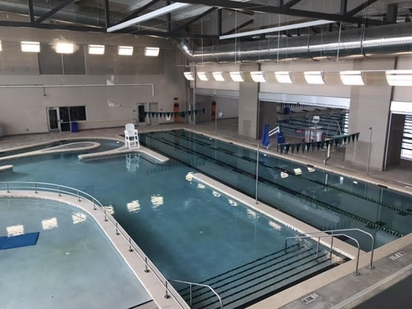 Indoor pool at The Apex Center