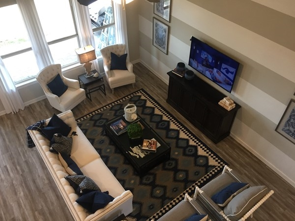 Highland Homes living room in Waterscape