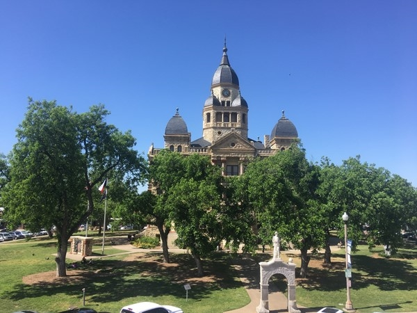 Denton Courthouse on a beautiful spring day