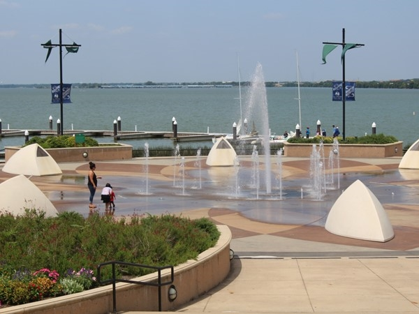 The Harbor Rockwall Fountains...the kids love this one