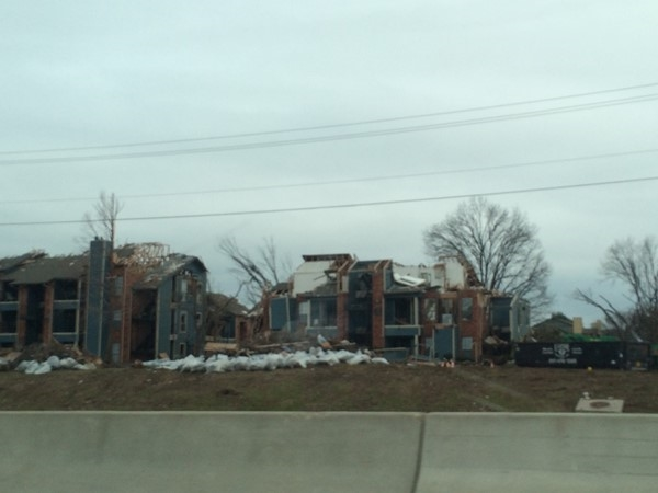A Category five tornado ripped through this apartment complex off of l-30 and Cha Cha