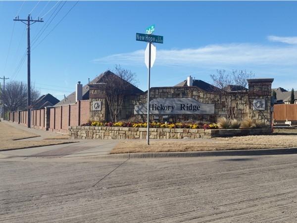 Hickory Ridge neighborhood in North Plano