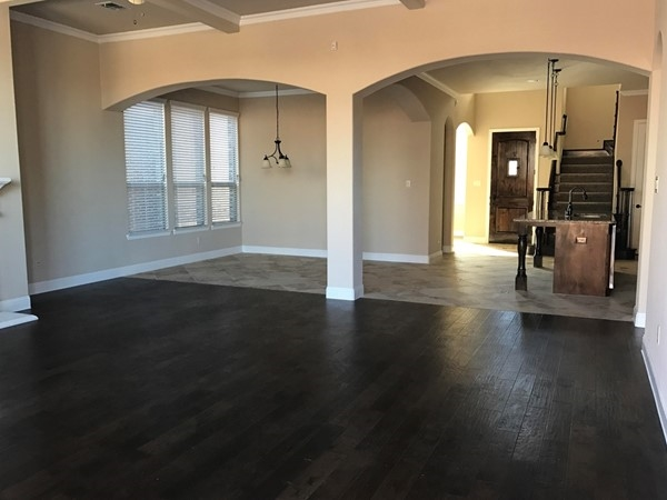 This Megatel home has the upgraded hardwoods