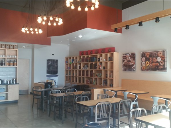 Interior view of Top Pot Hand-Forged Doughnuts & Coffee