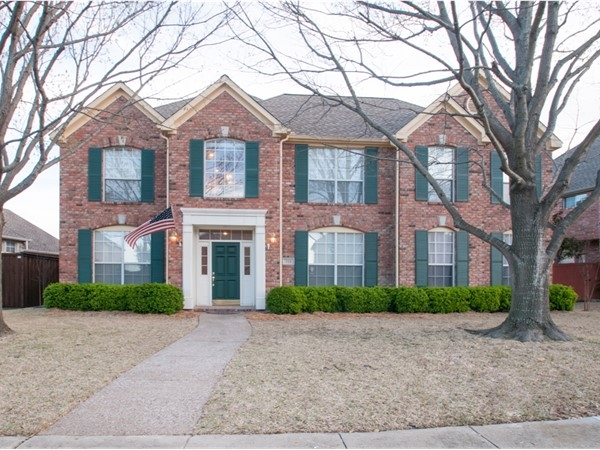 Federal style home in golf course community of Chase Oaks, close to 75