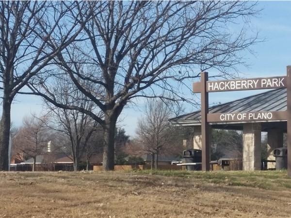 Hackberry Park is adjacent to Sabine Park Estates