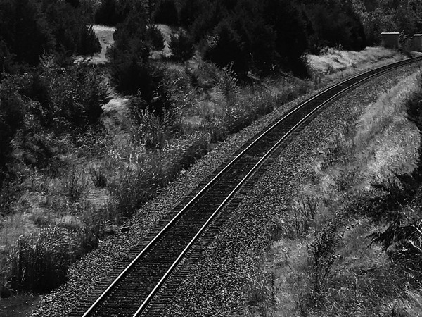 Nice shot of the railroad tracks