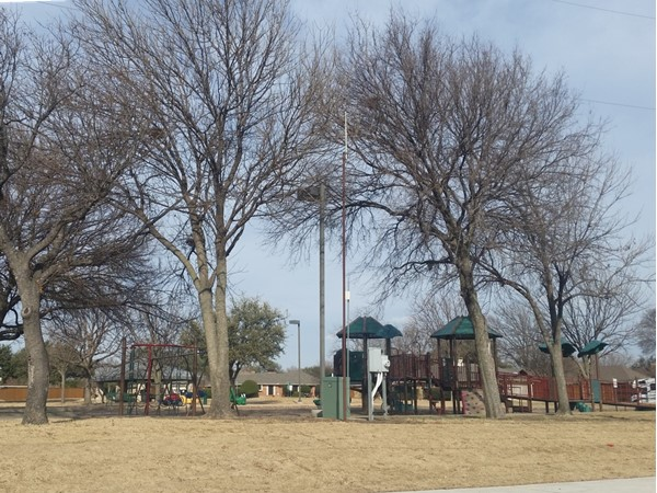 Kids play equipment in park