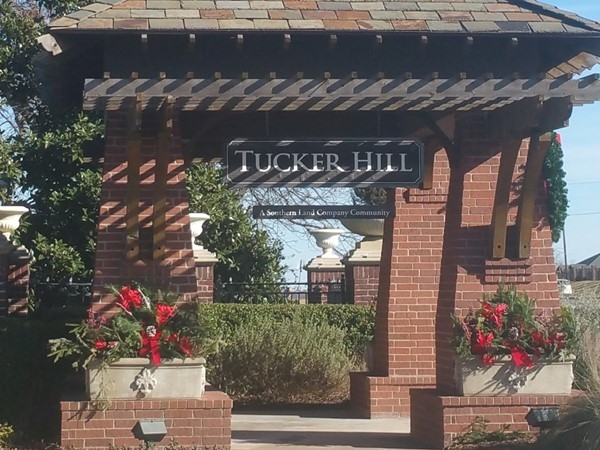 Main entrance to Tucker Hill