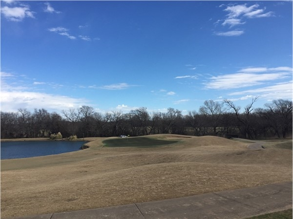 Looking out over Twin Creeks golf course