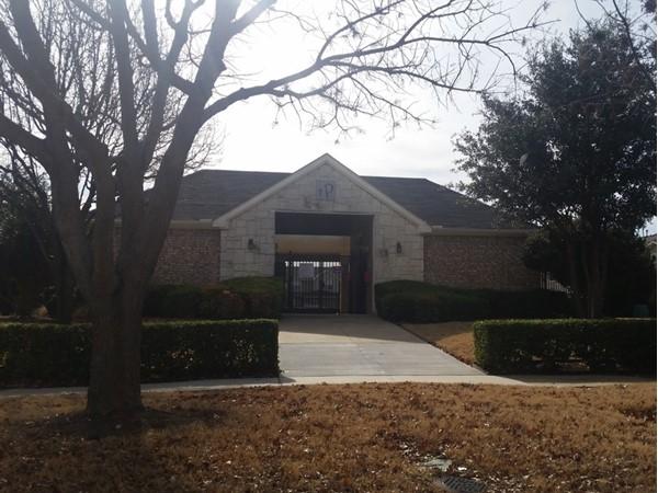Community pool entrance in Parker Estates