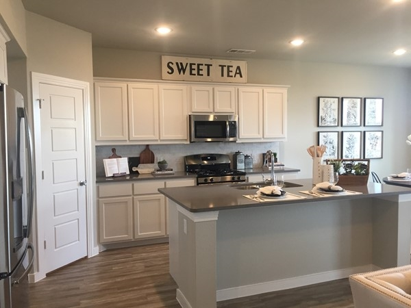 Highland Homes open kitchen in Waterscape