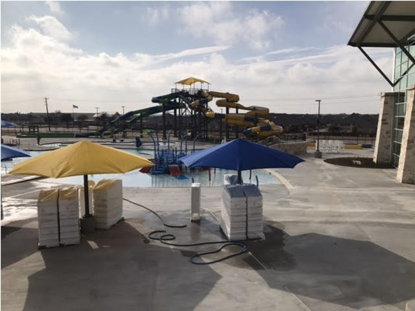 Waterslides at The Apex Center