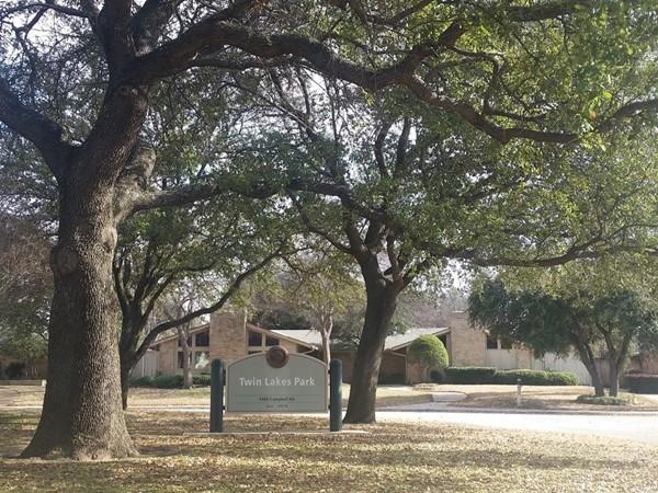 Beautiful oak trees in this neighborhood