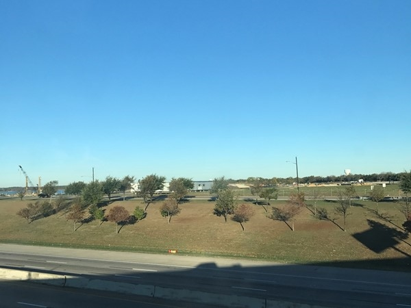 I-30 looking north. This horizon will have huge buildings overlooking the lake by 2020