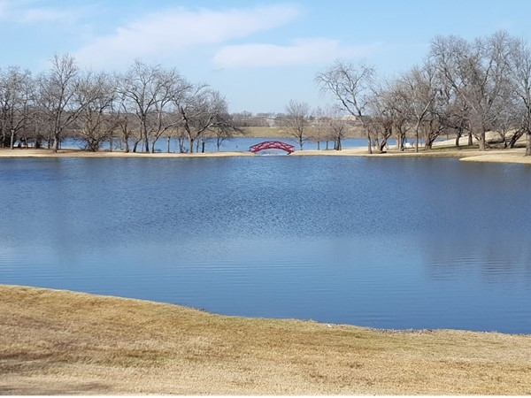 One of the catch and release ponds in Mallard Lakes