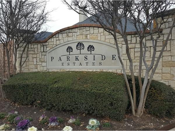 Parkside Estates entrance