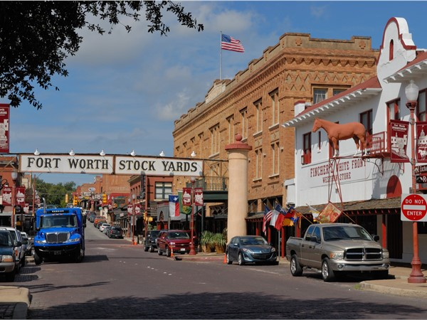 Fort Worth Stockyards is a historic district listed on the National Register since 1976