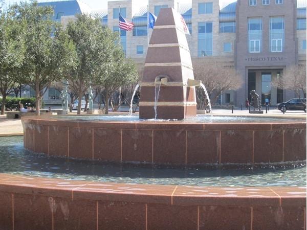 Fountain at Frisco Square